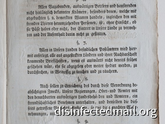 1804 Hessische Verordnung (page 3) – Yellow fever