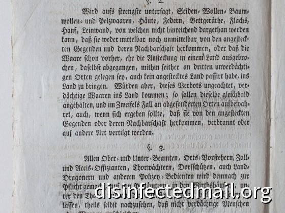 1804 Hessische Verordnung (page 2) – Yellow fever