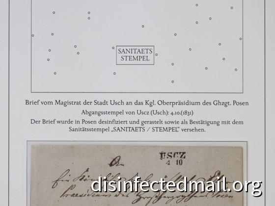 Prussia (Uscz - Posen) : SANITEATS / STEMPEL