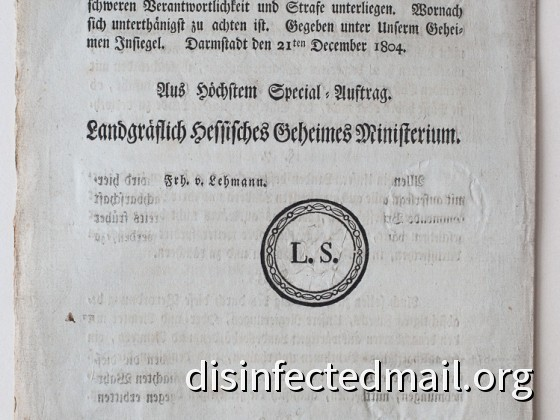 1804 Hessische Verordnung (page 4) – Yellow fever